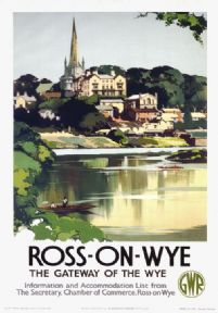 Ross On Wye, Herefordshire. Vintage GWR Travel poster by Claude Buckle. 1938